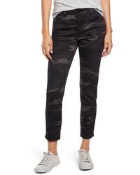 Wit & Wisdom Ab-solution Camo High Waist Ankle Skinny Pants - Black