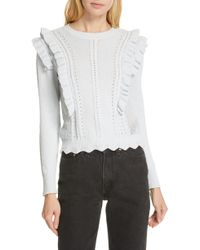 Rebecca Taylor - Ruffled Sweater - Lyst