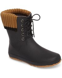 Dav - Lace-up Water Resistant Rain Boot - Lyst