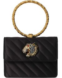 Gucci Broadway Quilted Ring Top Handle Bag - Black