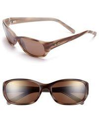Maui Jim | Kuiaha Bay 55mm Polarizedplus Sport Sunglasses - Dark Sandstone | Lyst