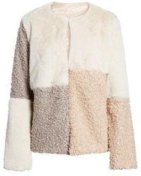 Sam Edelman - Patchwork Faux Fur Coat - Lyst