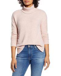 Caslon - Caslon Cozy Relaxed Turtleneck Sweater - Lyst