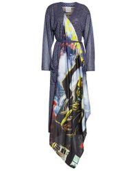 Vetements - Mixed Print Robe Dress - Lyst