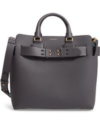 Burberry - Medium Leather Belted Bag - Lyst