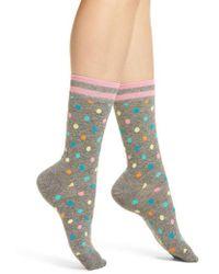 Happy Socks - Dot & Stripe Crew Socks - Lyst