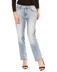 PAIGE - Noella High Waist Straight Leg Jeans - Lyst