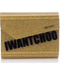 78e4dfd4c7bf Jimmy Choo - Candy I Want Choo Glitter Clutch - Metallic - Lyst
