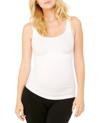 Ingrid & Isabel | Ingrid & Isabel Seamless Ruched Maternity Tank | Lyst