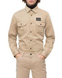 Calvin Klein - Military Shirt - Lyst