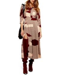 TOPSHOP - Playful Tiled Maxi Dress - Lyst