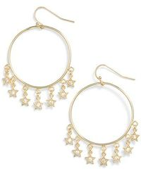 Melinda Maria - Star Shooter Hoop Earrings - Lyst