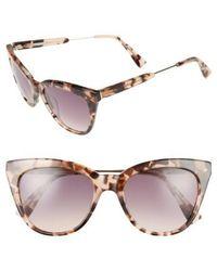 Derek Lam - 'lenox' 53mm Cat Eye Sunglasses - Lyst