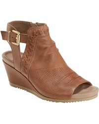 Earth Earth Bonaire Wedge Sandal - Brown