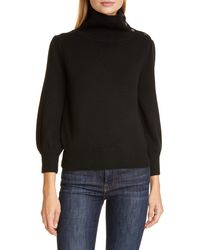 Co. - Button Detail Wool & Cashmere Sweater - Lyst