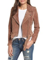 Blank NYC - Morning Suede Moto Jacket - Lyst