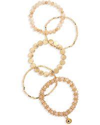 Shashi Pia 5-piece Bracelet Set - Metallic