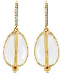 Temple St. Clair | Temple St. Clair Dia Classic Amulet Drop Earrings | Lyst