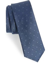 Calibrate Felsic Geometric Silk Tie - Blue