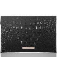 Brahmin - Melbourne Croc Embossed Leather Envelope Clutch - Lyst