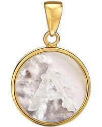 Asha - Mother-of Pearl Initial Charm - Lyst