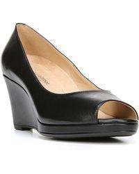 Naturalizer Olivia Peep Toe Wedge - Black
