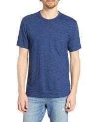 Faherty Brand Stripe Pocket T-shirt - Blue