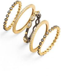 Freida Rothman - Delicate Stackable Rings (set Of 5) - Lyst