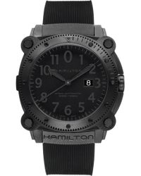 Hamilton - Khaki Belowzero Automatic Rubber Strap Watch - Lyst