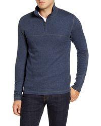 Vintage 1946 Quarter Zip Sweater - Blue