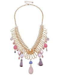 Nakamol - S Collar Necklace With Stone Dangles - Lyst
