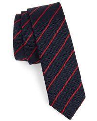 Eleventy - Stripe Skinny Silk Tie - Lyst