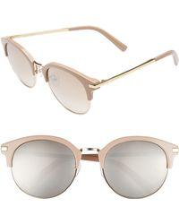 dfeba042e3 Lyst - Wonderland Stateline Sunglasses - Clear gold in Metallic
