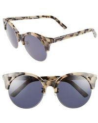 Pared Eyewear - Up & At Em 55mm Retro Sunglasses - Cookies/ Cream/ Silver Grey - Lyst