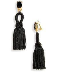 Oscar de la Renta | Silk Tassel Drop Earrings | Lyst