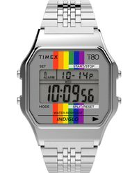 Timex Timex Pride T80 Digital Bracelet Watch - Metallic