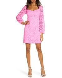 Lilly Pulitzer Lilly Pulitzer Juliah Long Sleeve Lace Dress - Pink