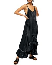 Free People Amor Amor Maxi Slipdress - Black
