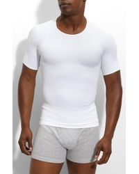 Spanx - Spanx 'zoned Performance' Compression Crewneck T-shirt - Lyst