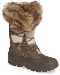 Woolrich Ice Cougar Waterproof Knee High Winter Boot With Faux Fur Trim - Brown