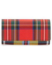 Burberry - Halton Tartan Mix Continental Wallet - Lyst