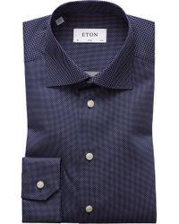 Eton of Sweden Men's Slim-fit Dot Dress Shirt - Black