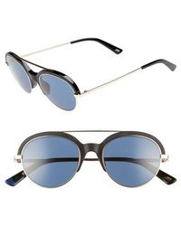 Web - 51mm Aviator Sunglasses - Shiny Black/ Blue - Lyst
