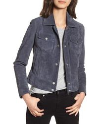 Andrew Marc - Tumbled Suede Trucker Jacket - Lyst