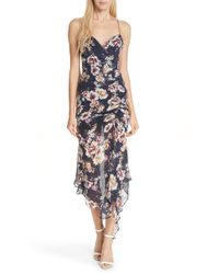 Nicholas - Garden Rose Silk Midi Dress - Lyst