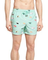 Nikben - Jiro Print Swim Trunks - Lyst