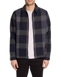 Calibrate Check Shirt Jacket - Blue