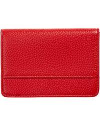 Nordstrom Ruby Pebbled Leather Cardholder - Red