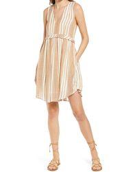 d.RA Alhena Stripe Babydoll Dress - Natural