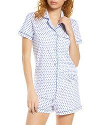 Roberta Roller Rabbit Hearts Pyjama Set - Blue